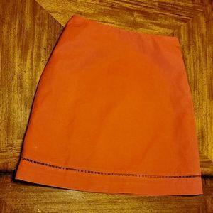 Ann Taylor Orange A-Line Skirt